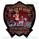 Patch ecusson grande taille biker pin up ass gas or grass rides free