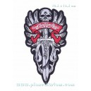 Patch ecusson skull biker chopper wings ailes epee moyen