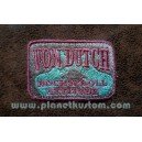 Patch ecusson von Dutch rock n roll attitude pink on grey old stock