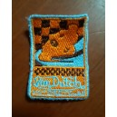 Patch ecusson von Dutch motorcycles moto course damier old stock