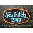 Patch ecusson von Dutch 1949 octogone signature orange old stock