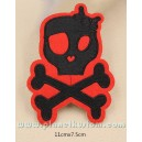 Patch ecusson skull girly girl pin up tete de mort crane kiki