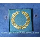 Patch ecusson thermocollant couronne laurier vitoire army military kaki