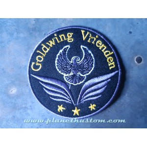 Patch ecusson thermocollant goldwing vrienden amis honda aigle