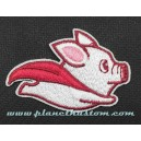 Patch ecusson thermocollant super cochon porgy volant