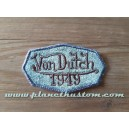 Patch ecusson von Dutch 1949 octogone signature bleu pastel old stock
