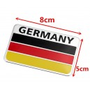 Sticker autocollant badge alu 3D métal drapeau allemand germany 33