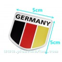 Sticker autocollant badge alu 3D métal fanion Allemagne germany 34