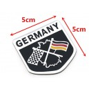 Sticker autocollant badge alu 3D métal racing Allemagne germany 35