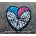 Patch ecusson thermocollant DC Comics BD harley quiin fesse coeur heart ass