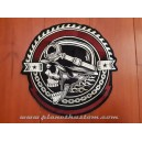 patch ecusson thermocollant grande taille skull army german casque allemand