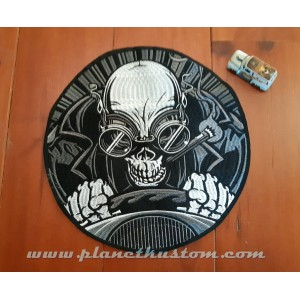 patch ecusson thermocollant grande taille skull ghost rider hotroder