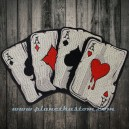 patch ecusson thermocollant grande taille poker carré AS