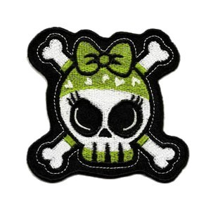 Patch skull girly kiki bandana vert