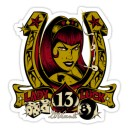 Sticker pin up lady luck 13 d.Vicente 7