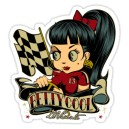 Sticker pin up betty cool racing d.Vicente 20