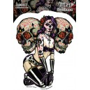 Sticker Humantree tidwell sugar skull pin up tidwell8