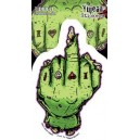 Sticker Humantree zombie finger hand tattoo tidwell12