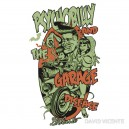 Sticker psychobilly and the garage diseased.Vicente 25