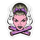 Sticker pin up pink sex toy devil girl toy d.Vicente 32