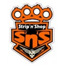 Sticker Strip'n'Shop poing américain skull SNS