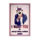 Sticker Strip'n'Shop I want you in SNS addict army