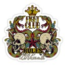 Sticker skull  & snakes fight club rules d.Vicente 34