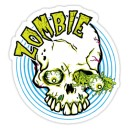 Sticker skull green eyes zombie 6