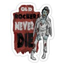 Sticker old rockers never die elvis zombie 8