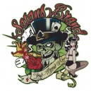 Sticker satans brand low brow art kustom pinup skull 8