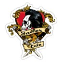 Sticker sailor & lula rocker heart skull 9