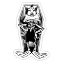 Sticker duck of dead dia de la muerte cartoon 1