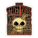 Sticker the staked skull world famous bar and grill skull 14