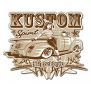 Sticker Bigdaddyjo kustom spirit pickup pinup grey pinstriping BIG39
